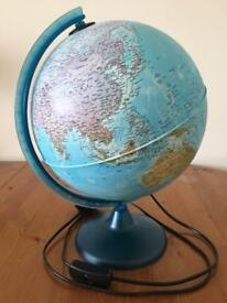 Nova Rico 25cm Arca Illuminated World Globe Lamp Map