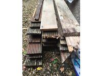 Used yellow balau hardwood decking boards.