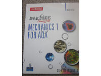 A Level Maths Essentials Mechanics 1 for AQA text book with CD Rom
