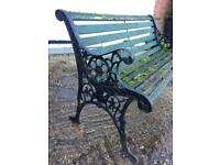 Vintage & Ornate Cast Iron Garden Bench Or Bench Ends