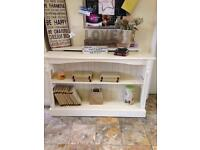 Shabby chic pine bookcase shop display unit