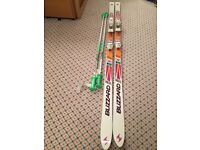 Blizzard Absorber Thermo V20 skis, Salomon bindings, R30 195cm plus ski poles