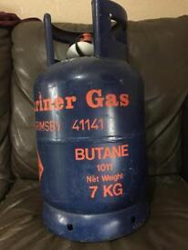 Empty Butane 7kg gas bottle