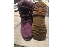 Purple timberlands size 4. Open to offers