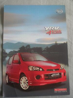 Daihatsu YRV 4 Trak brochure Aug 2001