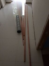 Various copper pipes