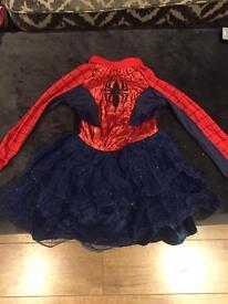 Spider girl fancy dress 5/6