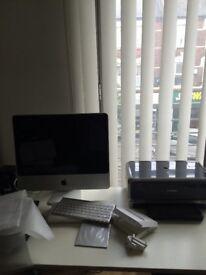 Apple 20inch desktop , wireless keyboard , tracker pad, canon printer