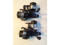2 x Shimano Baitrunner reels GTE 10000C and spools for carp fishing.