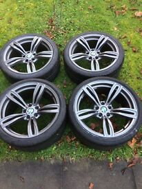 "19"" BMW wheels + Bridgestone tyres recently refurbished and very clean of damage"