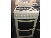 50CM WHITE HOTPOINT GAS COOKER GRILL/OVEN