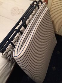 Fold up travel bed and matress