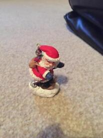 Skiing Santa Christmas ornament