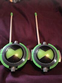 Ben 10 alien force walkie talkies