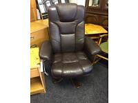Brown swivel chair can deliver