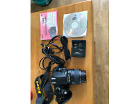 Nikon D40 kit with bag and extra zoom lens