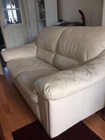 Sofa Two Seater Cream . Very Good Condition