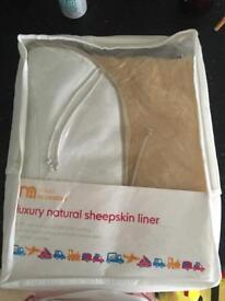 Natural sheepskin liner