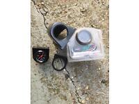 Car, van or boat parts. RPM/ Rev counter, oil pressure gauge, battery box