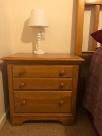 Two drawer, wooden night stand. Great condition!