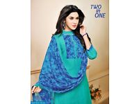 TWO IN ONE WHOLESALE TWO TOP DRESS MATERIAL