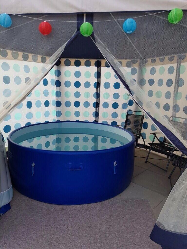 Lazy Spa Hot Tub With Gazebo In Ammanford