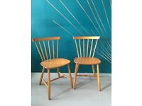Danish Mid Century Iconic Dining Chairs J46 Designed by Paul Volther- Pair