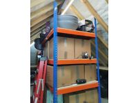Racking heavy duty bolt free. Almost new. 2 bays
