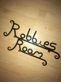 Robbies room sign