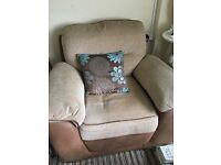 A really comfy 3seater sofa and chair