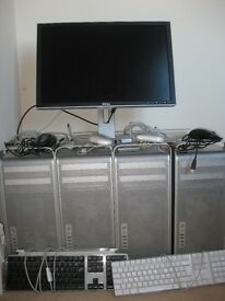 MAC PRO QUAD CORE INTEL XEON **Four MACS**1x Screen 2xkeyboard 4xmouse all cables