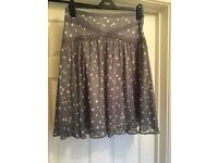 Cute dotty grey ELLE skirt