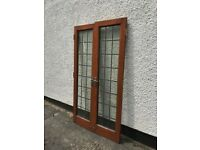 External wooden French doors