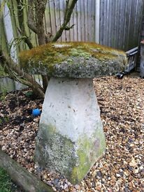 Two Well Weathered Saddle Stones Very Heavy