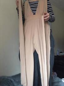 NewLook Nude TieUp Jumpsuit. Size 10