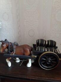 China shire horse and cart