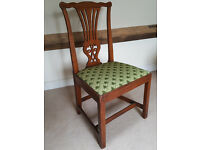 Antique 'country Chippendale' elm dining chair