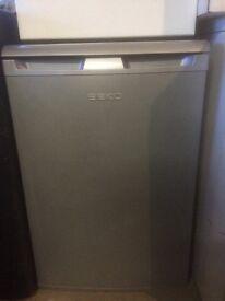 Beko Silver Undercounter Fridge with Freezer Compartment
