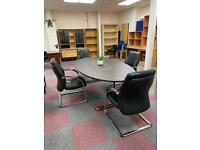 Oval Boardroom Table
