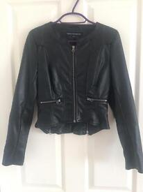 Size 6 French Connection Faux Leather Jacket