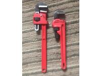 "Rothenberger stilsons Pipe wrench 18"" + 14"""