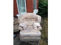 FREE to a good home - comfy armchair and nice mirror collect ASAP