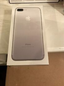 iPhone 7 plus. Silver. Brand new sealed. Locked to EE
