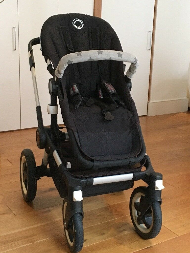 Bugaboo Buffalo All Terrain - Black - inc. footmuff, parasol and Maxi-Cosi car seat adapters