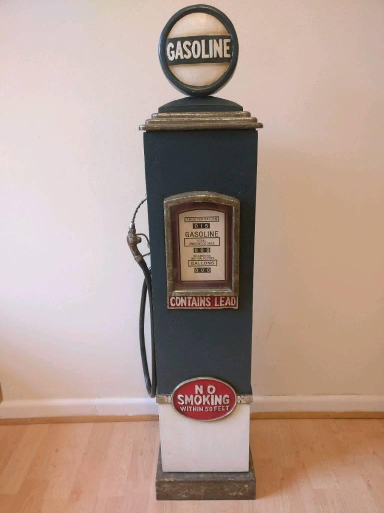 Retro Gas Pump Storage Cabinet