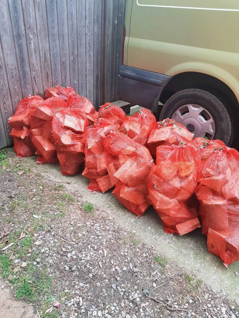 Bags of Hardwood Logs
