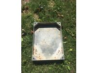 Used galvanised block pavier man hole. 70mm deep