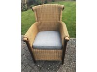 Beautiful Wicker Chair - new cushion and in near perfect condition