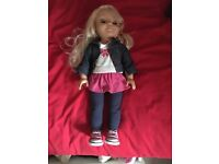 Talking Cayla doll, pairs with an app on a tablet and works through hoogl