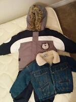 Fabulous boys 18mnth snowsuit and super cozy lined Jean jacket